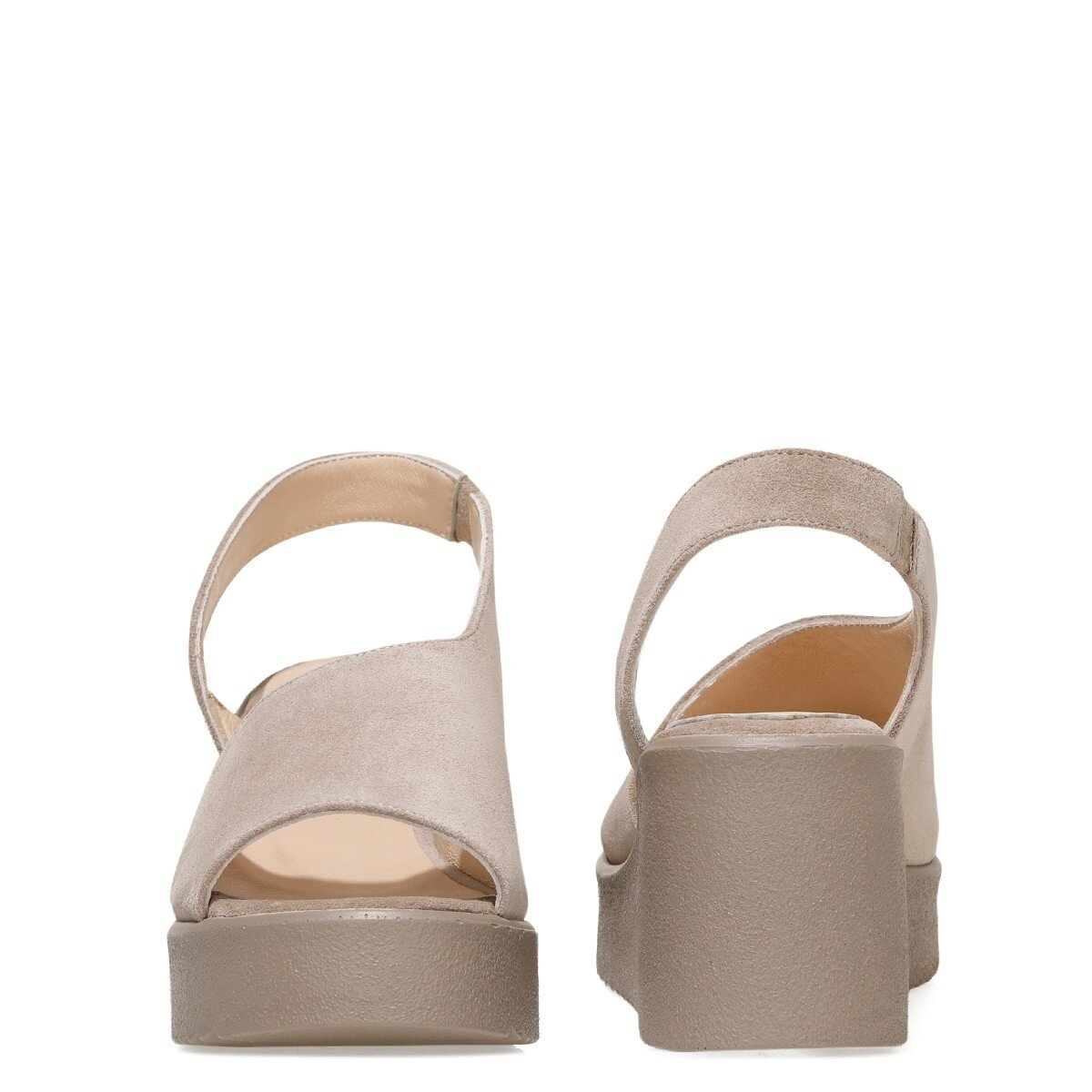 SANTEYOUNG 1FX Vizon Kadın Dolgu Topuk Sandalet