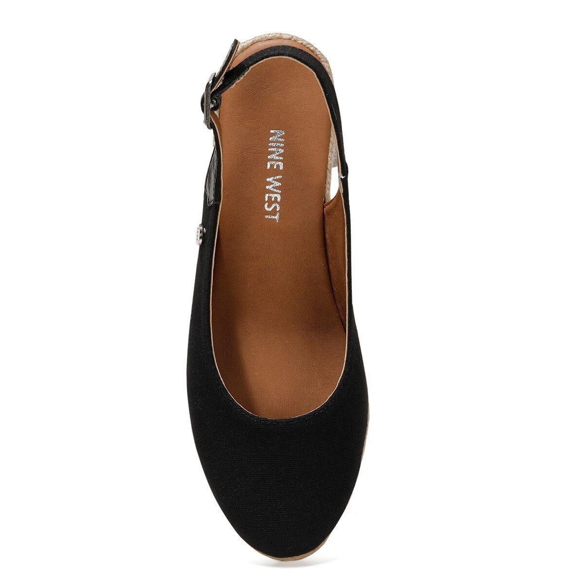 MERWILLA 1FX Siyah Kadın Dolgu Topuk Sandalet