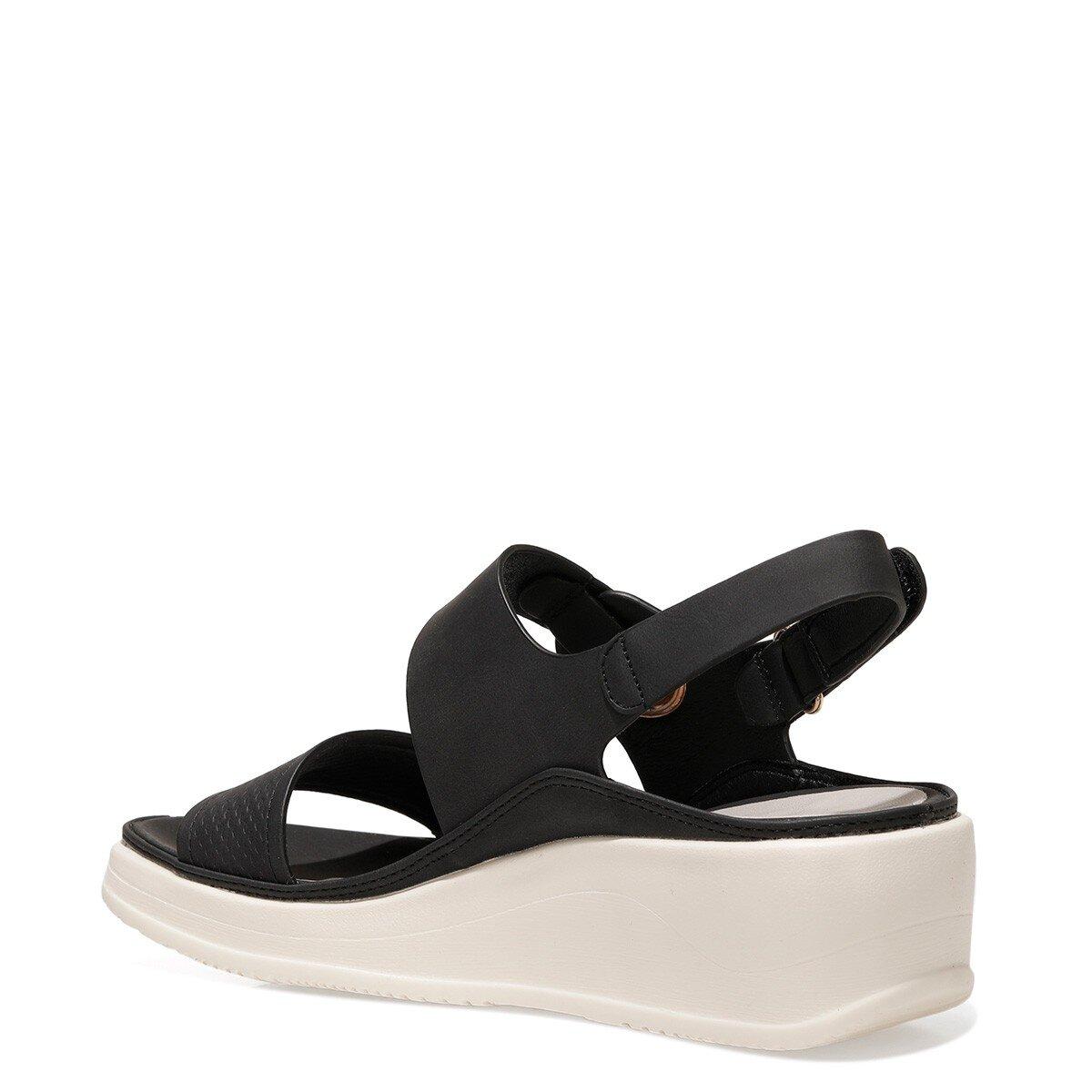 ACADDA 1FX Siyah Kadın Kalın Taban Sandalet