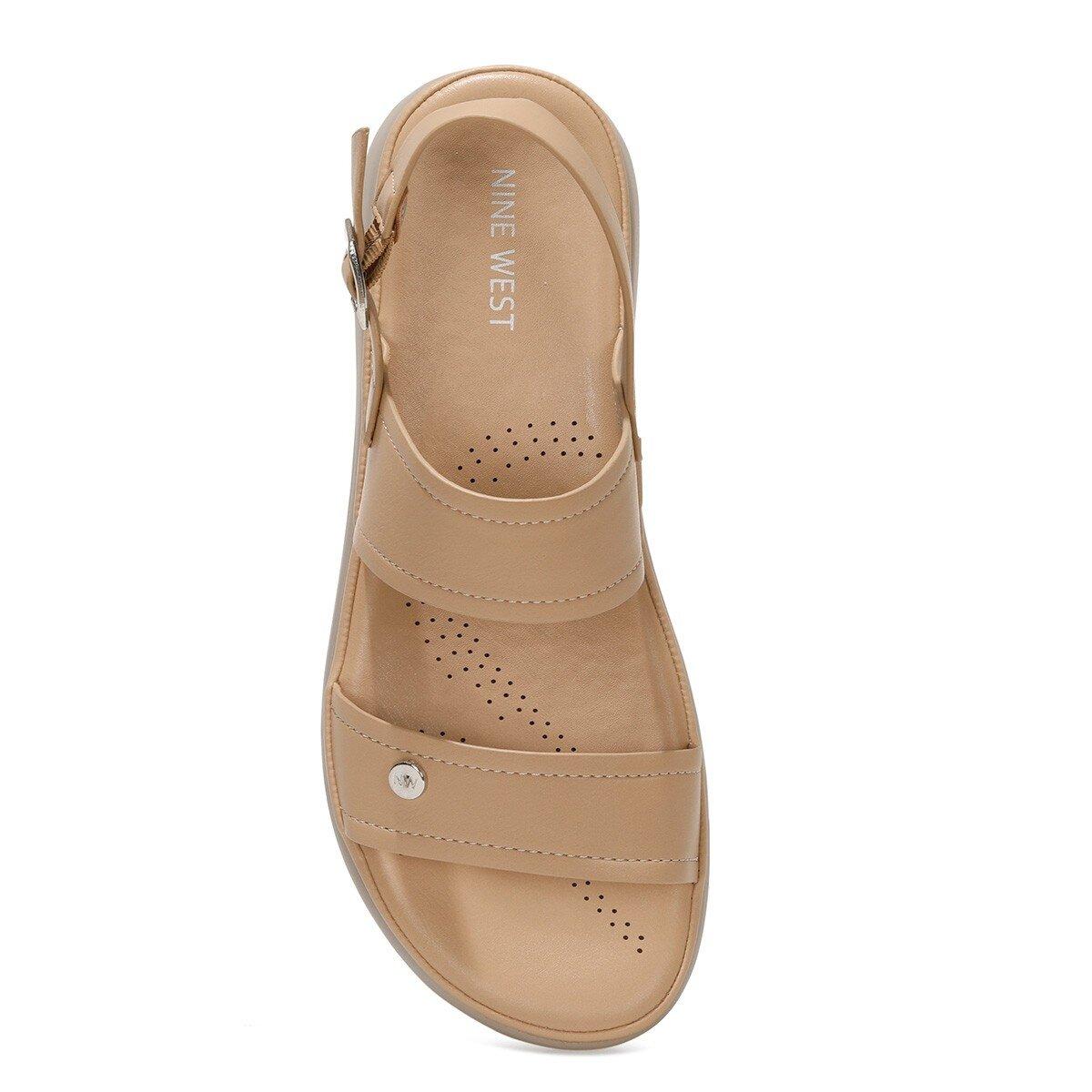 ADEVIEL 1FX Bej Kadın Kalın Tabanlı Sandalet