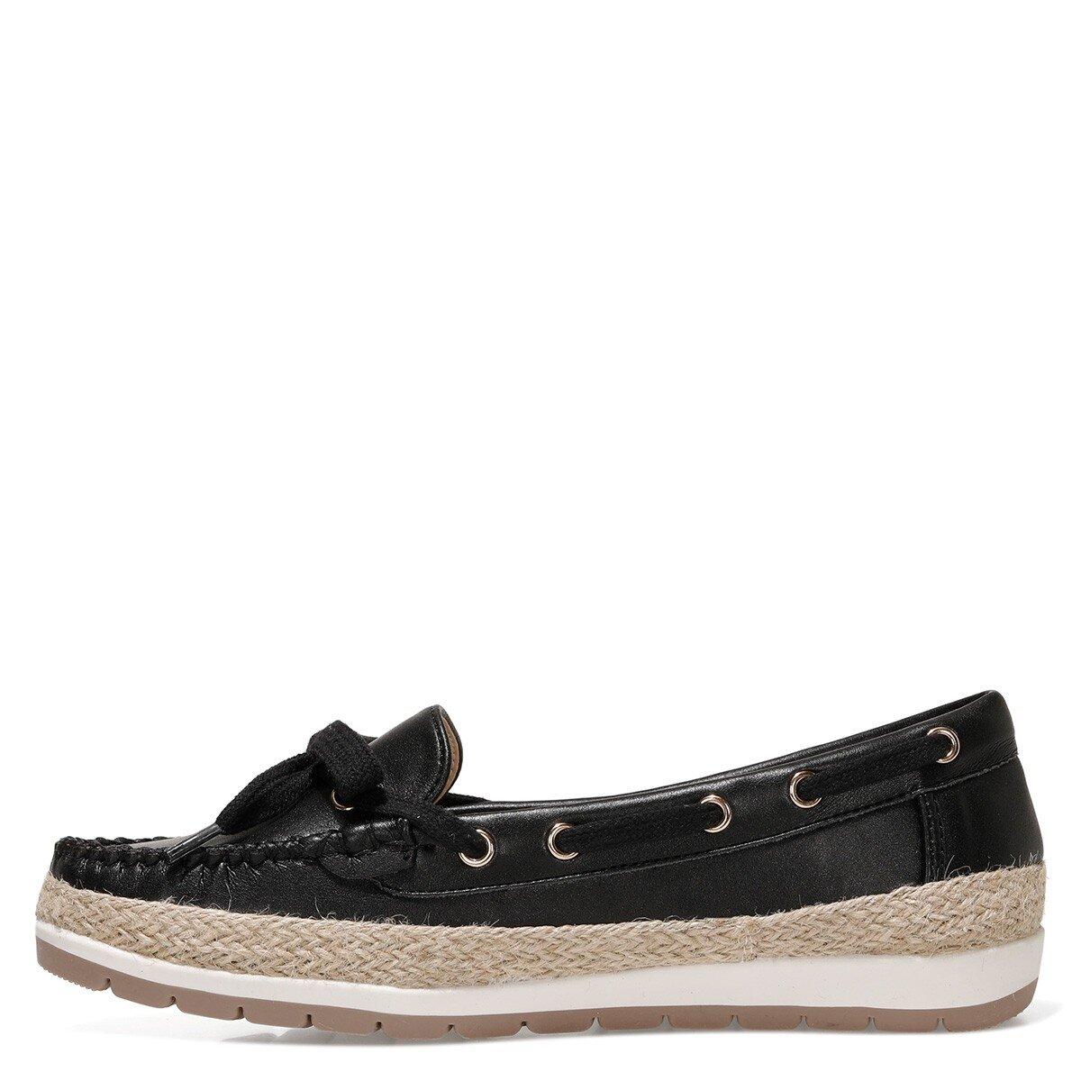 ALITHIEN 1FX Siyah Kadın Loafer Ayakkabı