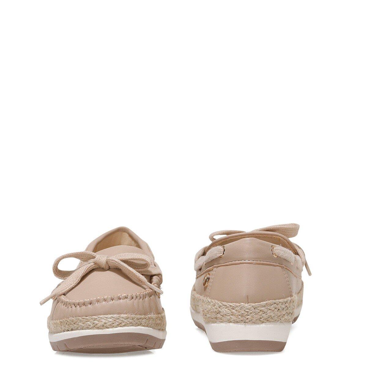 ALITHIEN 1FX Kum Rengi Kadın Loafer Ayakkabı