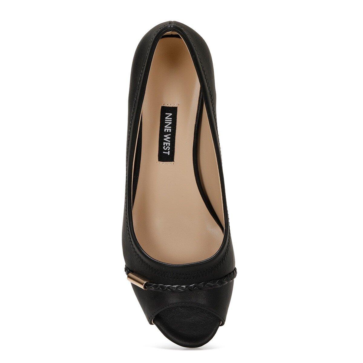 BIRENNA 1FX Siyah Kadın Dolgu Topuk Ayakkabı