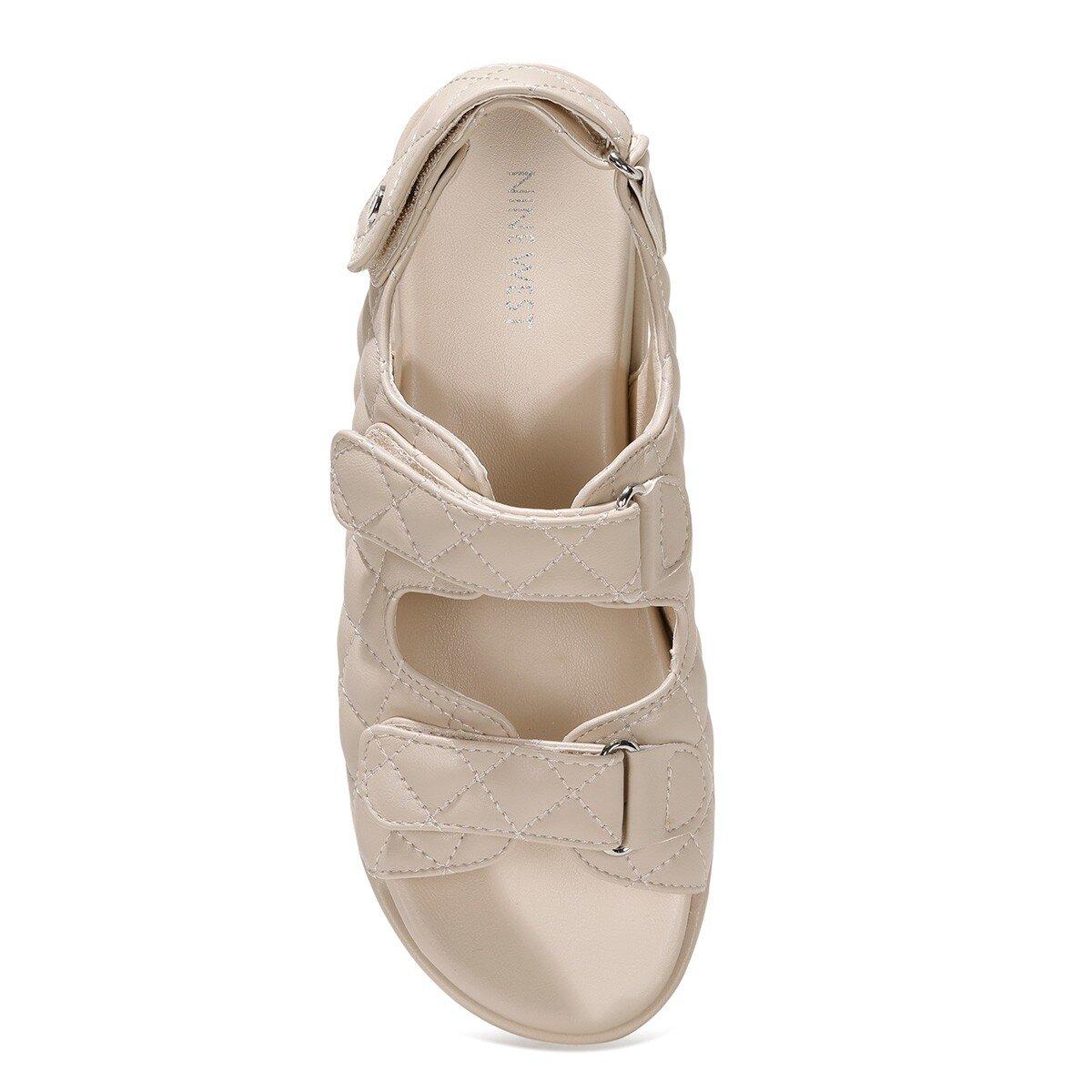 DONNA 1FX Bej Kadın Kalın Taban Sandalet