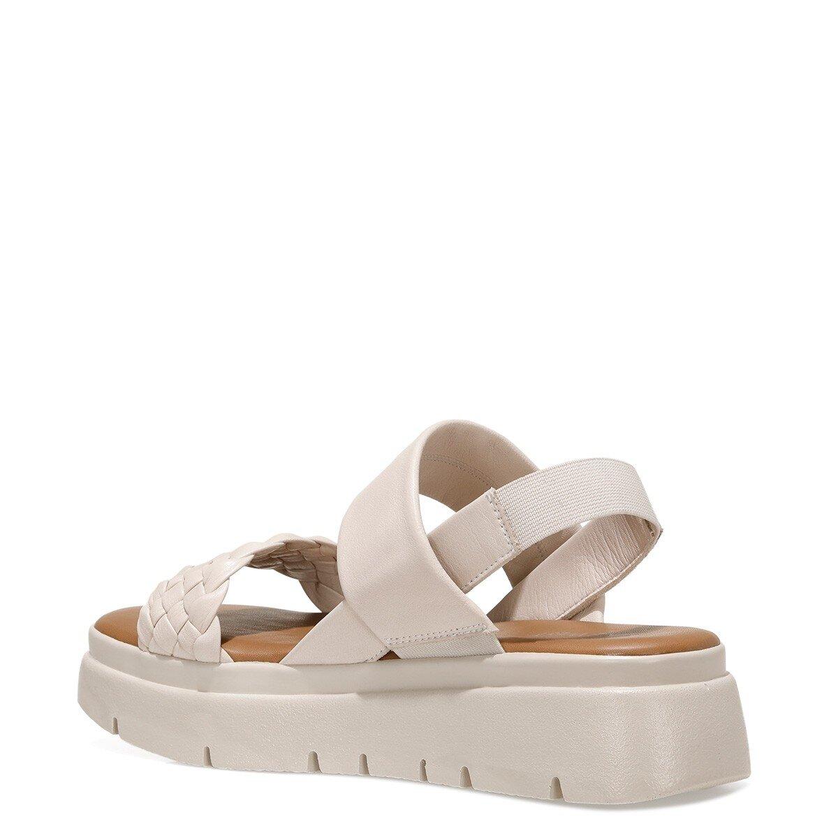 GUMMO 1FX Ekru Kadın Ayakkabı>Sandalet>Topuksuz Sandalet