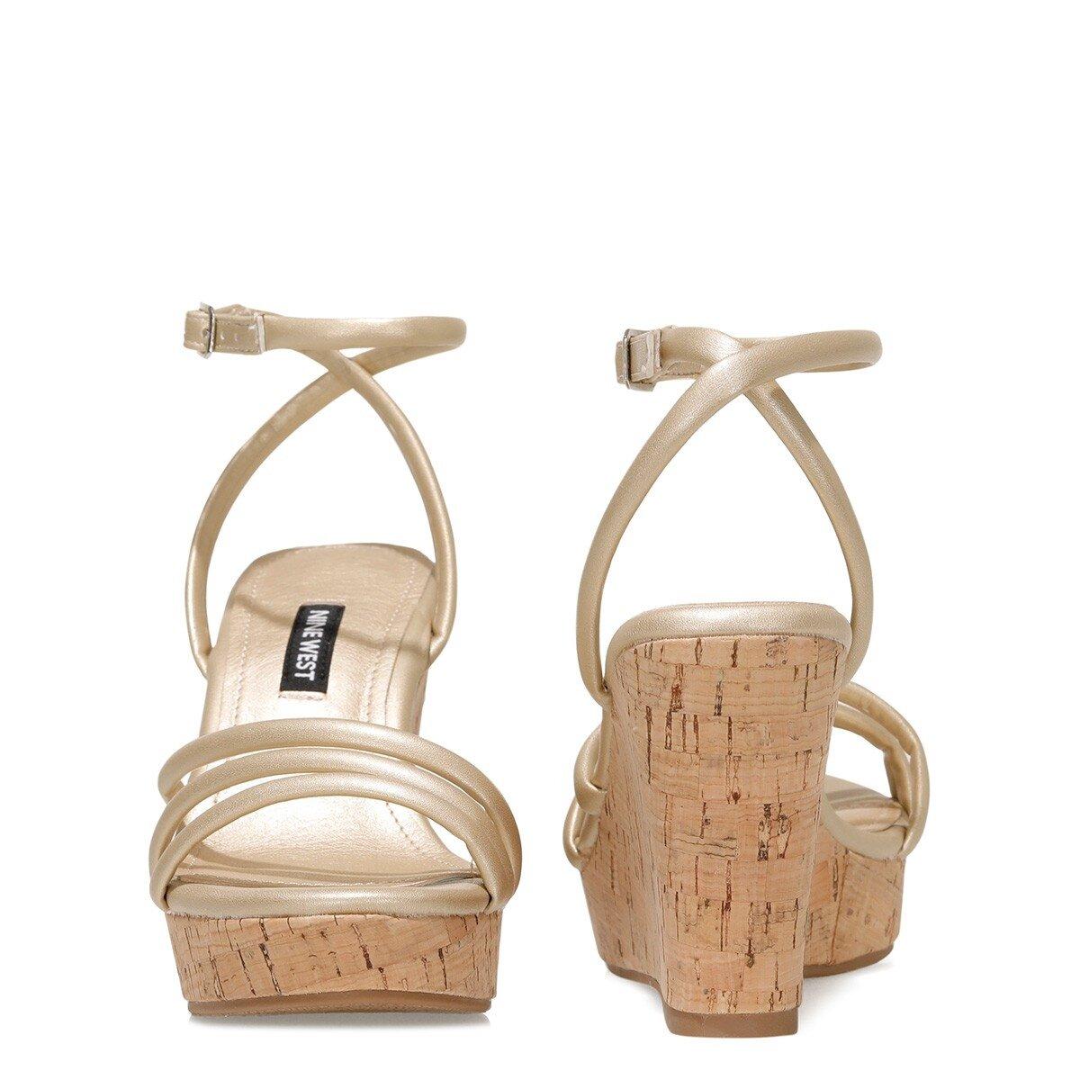 LEROYA 1FX Altın Kadın Dolgu Topuklu Sandalet