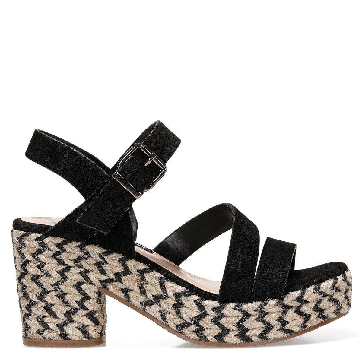 WEASANN 1FX Siyah Kadın Sandalet