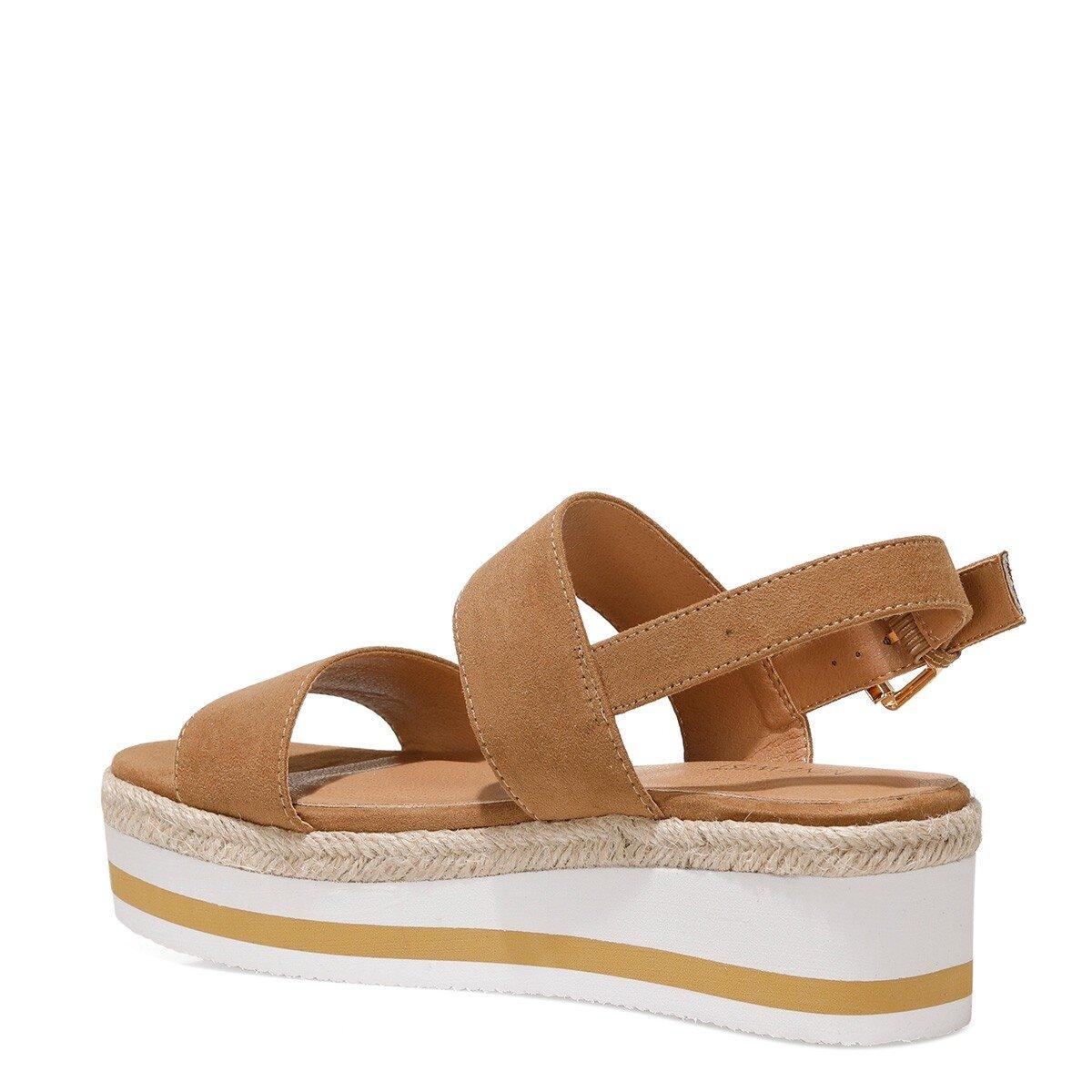 IZZINA 1FX Camel Kadın Kalın Taban Sandalet