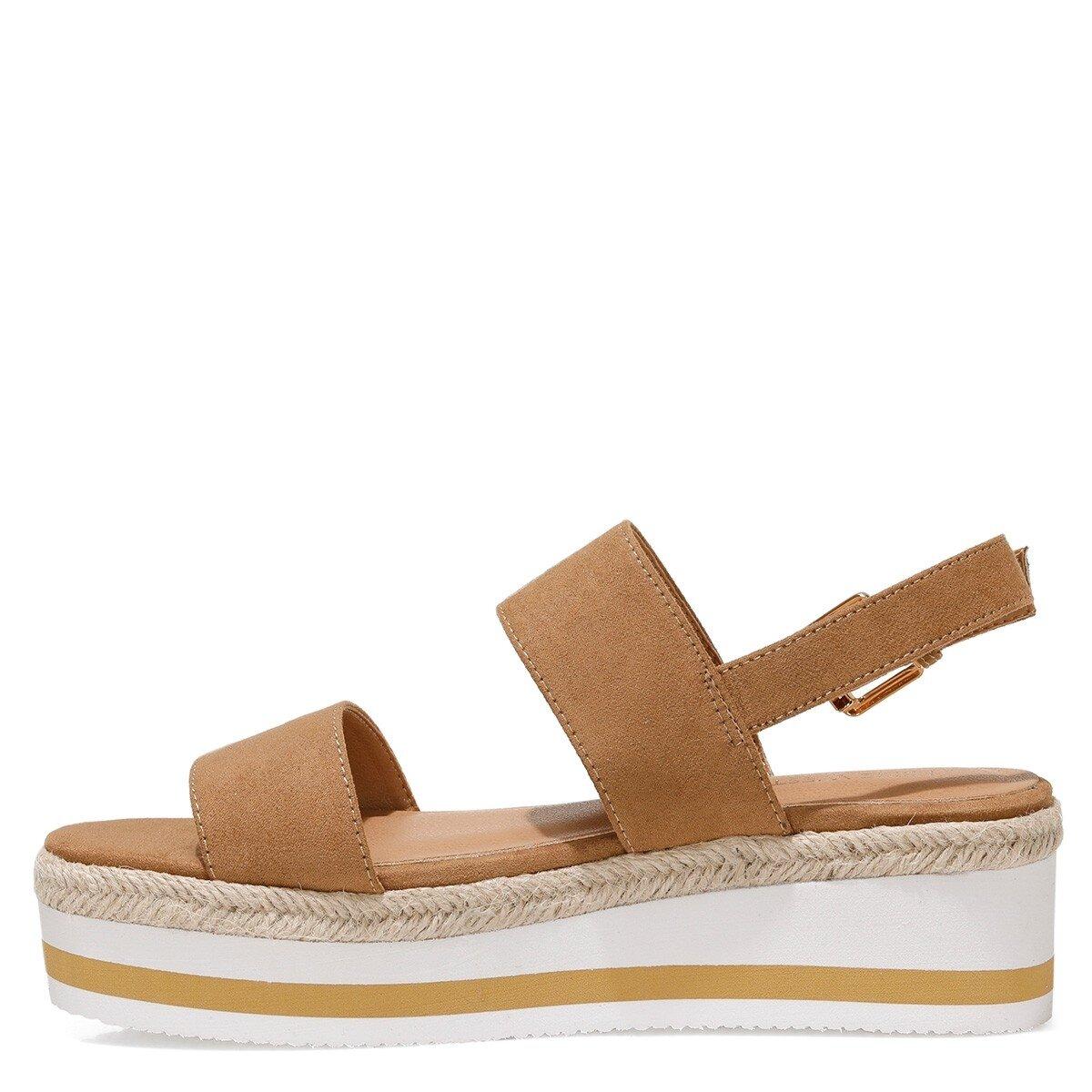 IZZINA 1FX Camel Kadın Sandalet