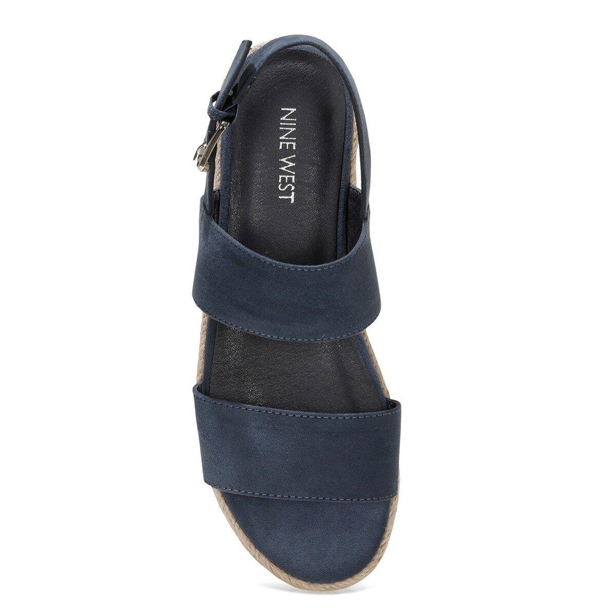 IZZINA 1FX Lacivert Kadın Kalın Taban Sandalet