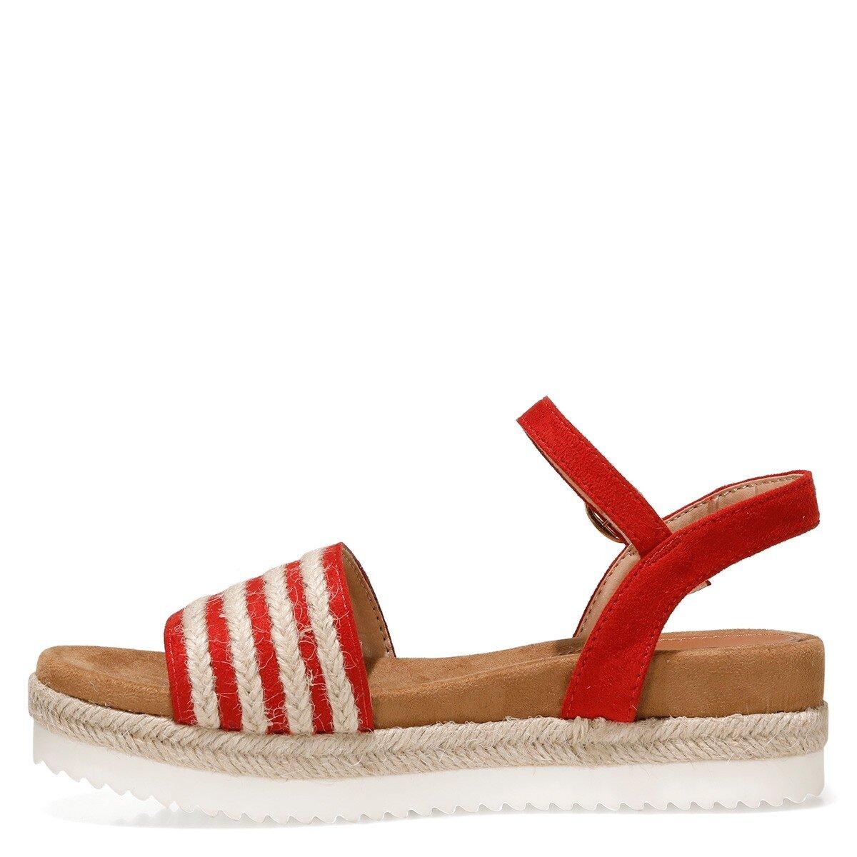 NURUNA 1FX Kırmızı Kadın Sandalet