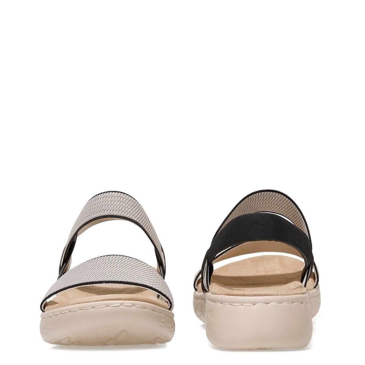 PAYNTER 1FX Siyah Kadın Sandalet