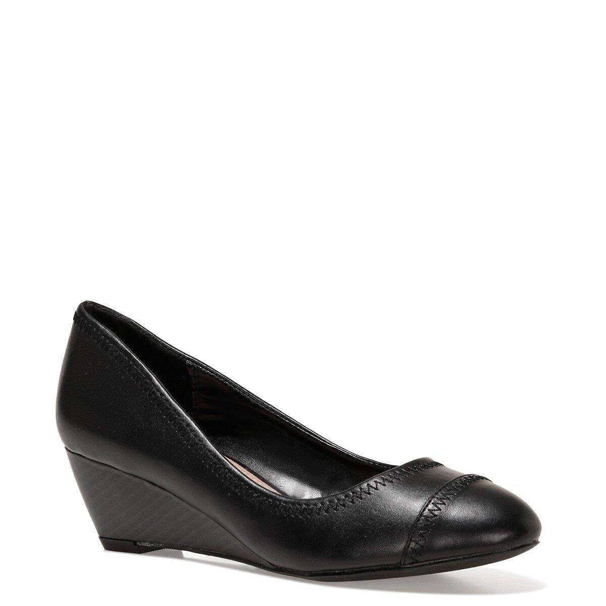 BLOCKER 1FX Siyah Kadın Dolgu Topuk Ayakkabı