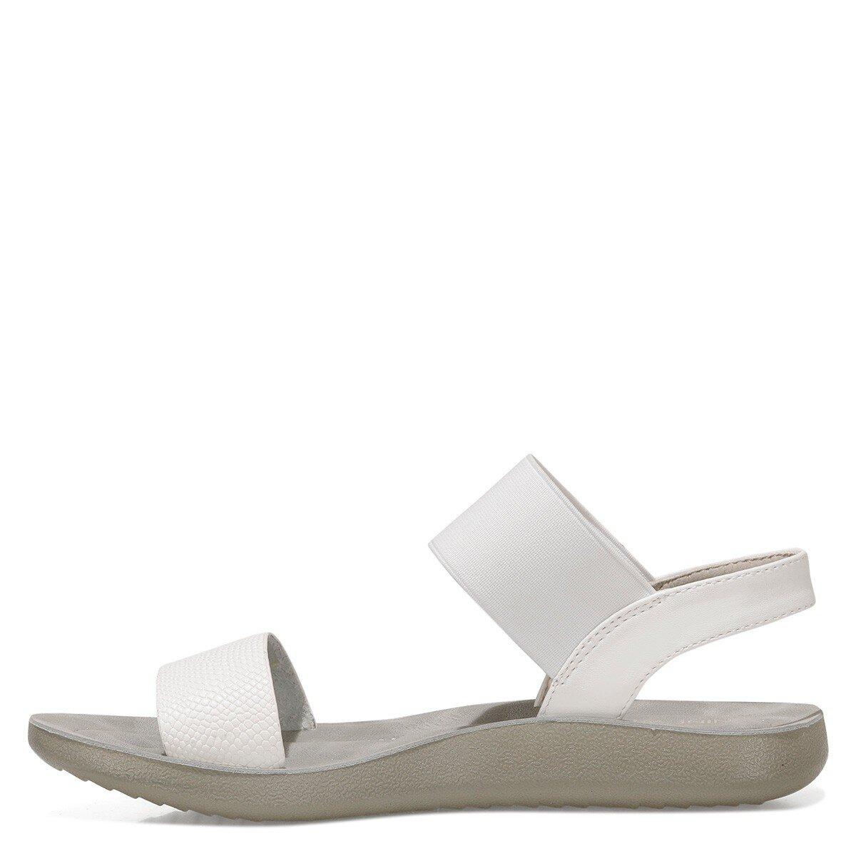 FRANKY 1FX Beyaz Kadın Düz Sandalet