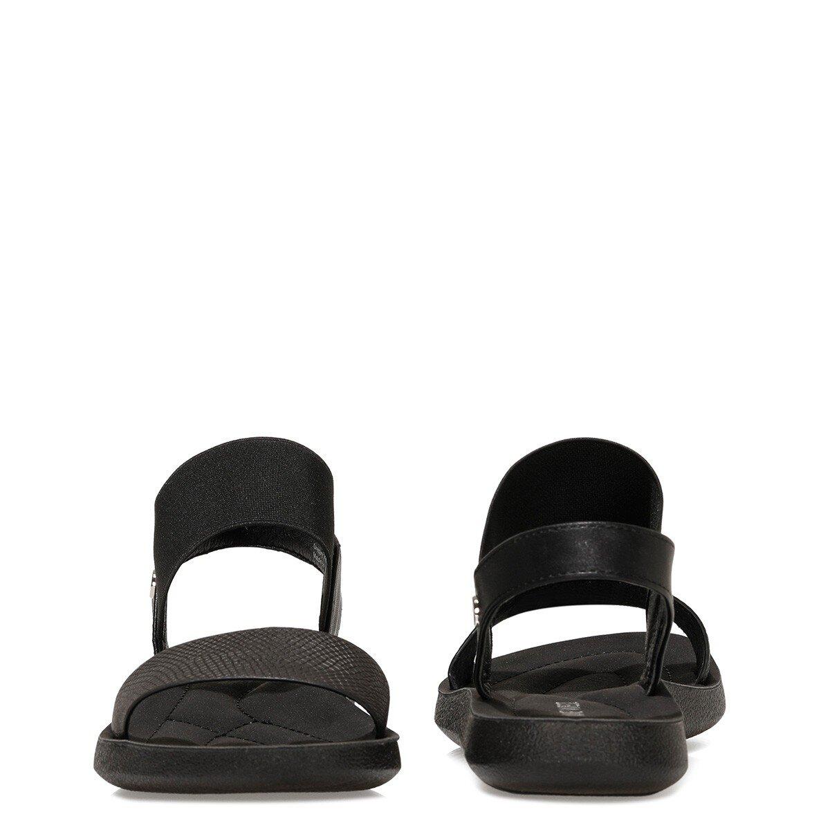 FRANKY 1FX Siyah Kadın Düz Sandalet
