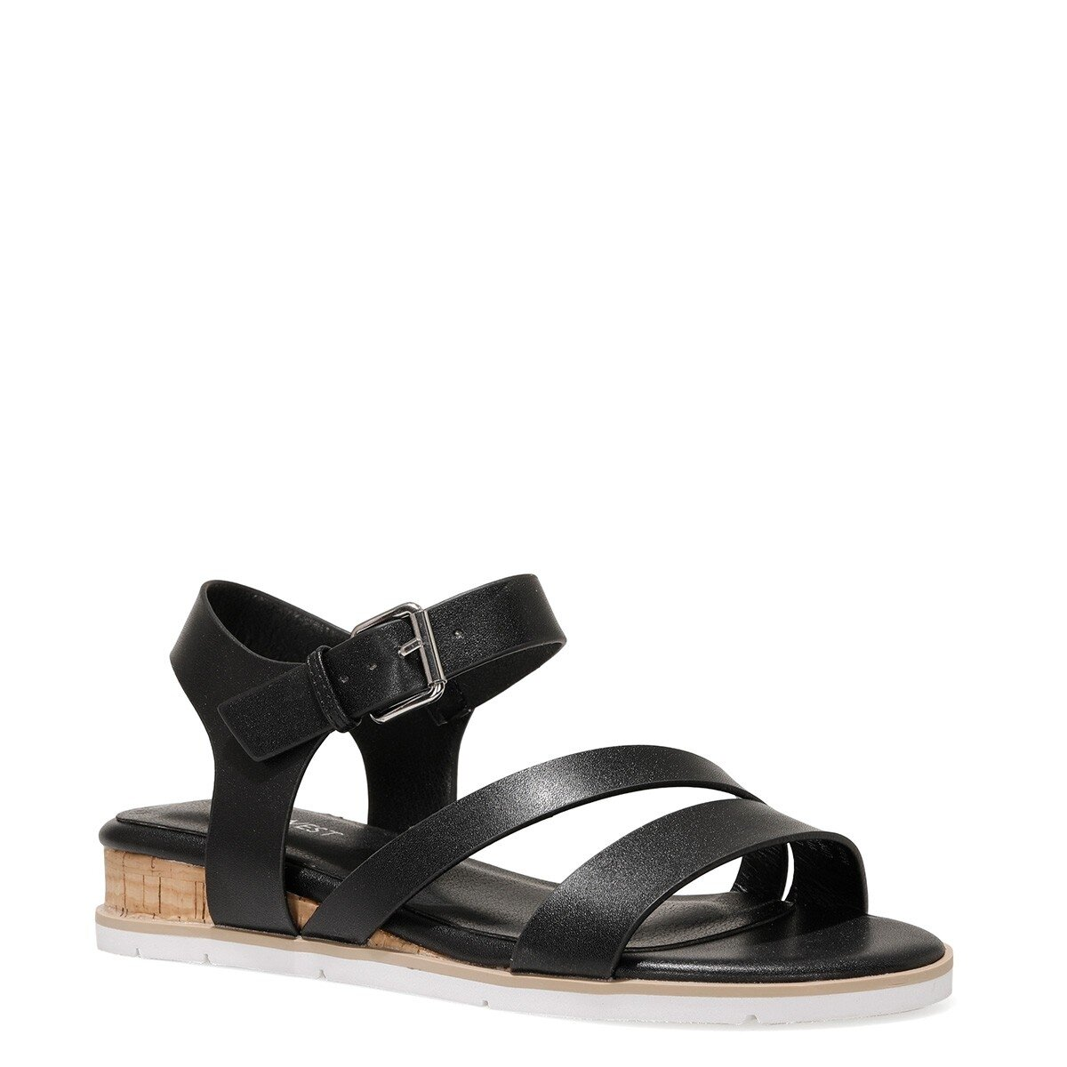 LEOTA 1FX Siyah Kadın Düz Sandalet