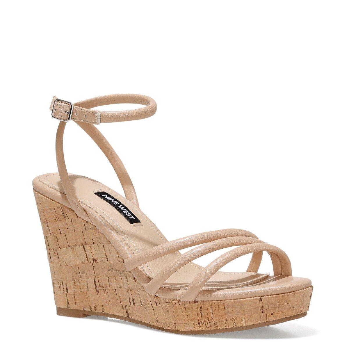 LEROYA 1FX NUDE Kadın Dolgu Topuklu Sandalet