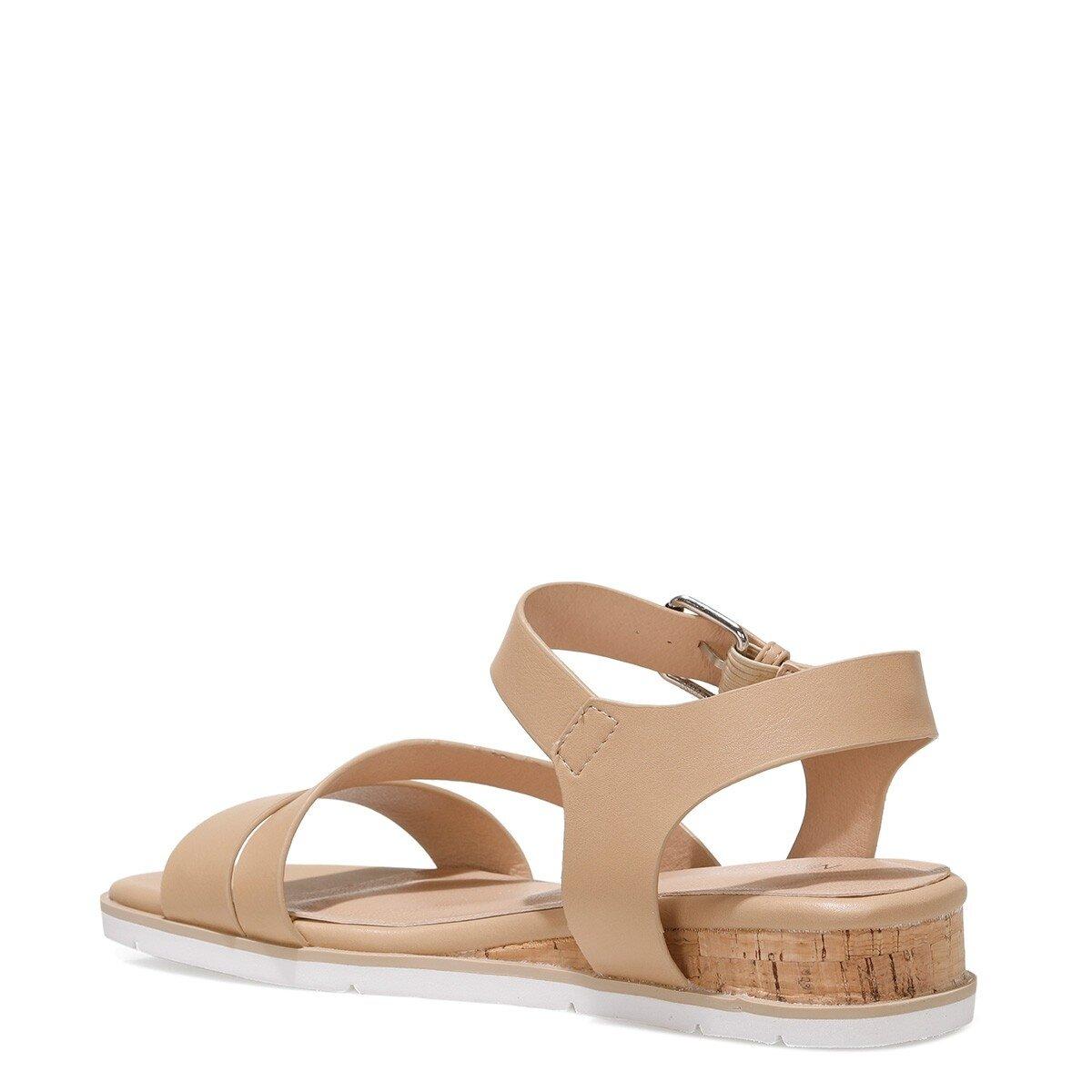 LEOTA 1FX Bej Kadın Düz Sandalet