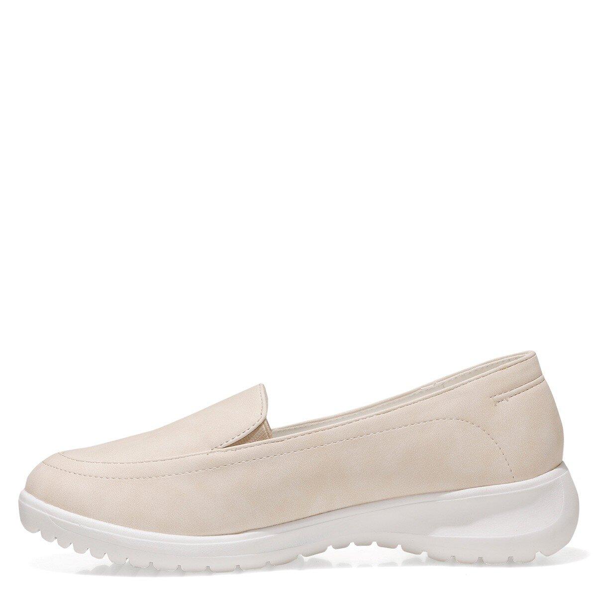 ISLA 1FX Bej Kadın Loafer Ayakkabı