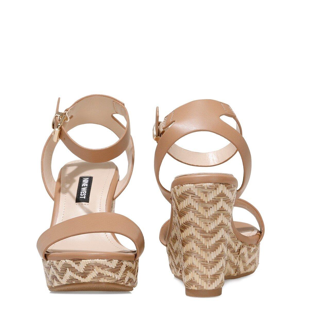 OBASA 1FX Taba Kadın Dolgu Topuklu Sandalet