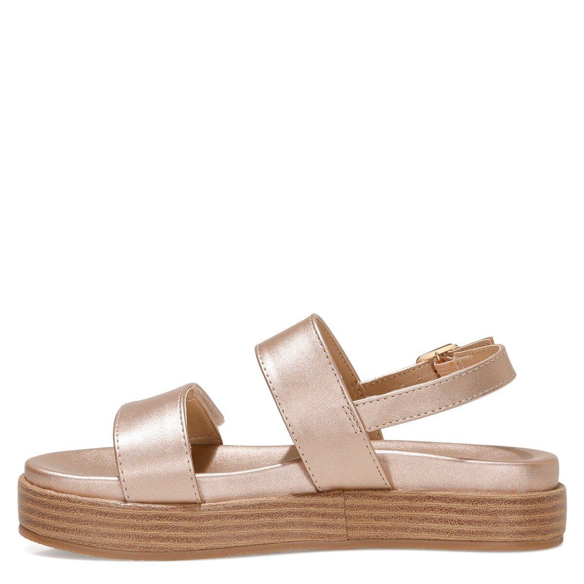 POPPY 1FX Rose Gold Kadın Kalın Tabanlı Sandalet