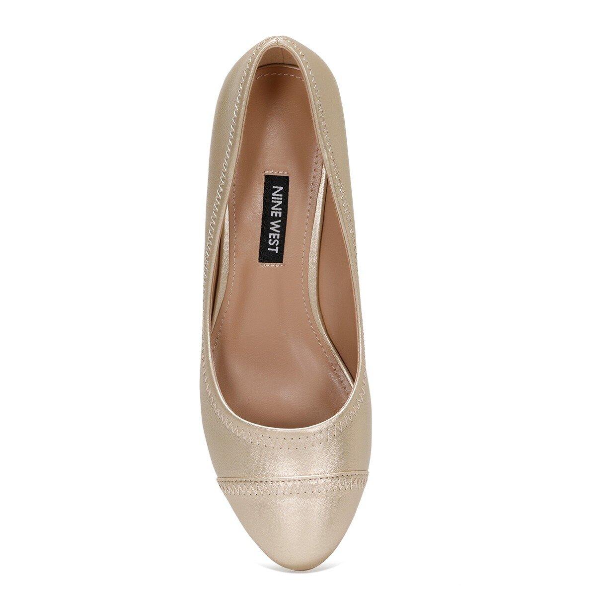 BLOCKER 1FX Altın Kadın Dolgu Topuk Ayakkabı