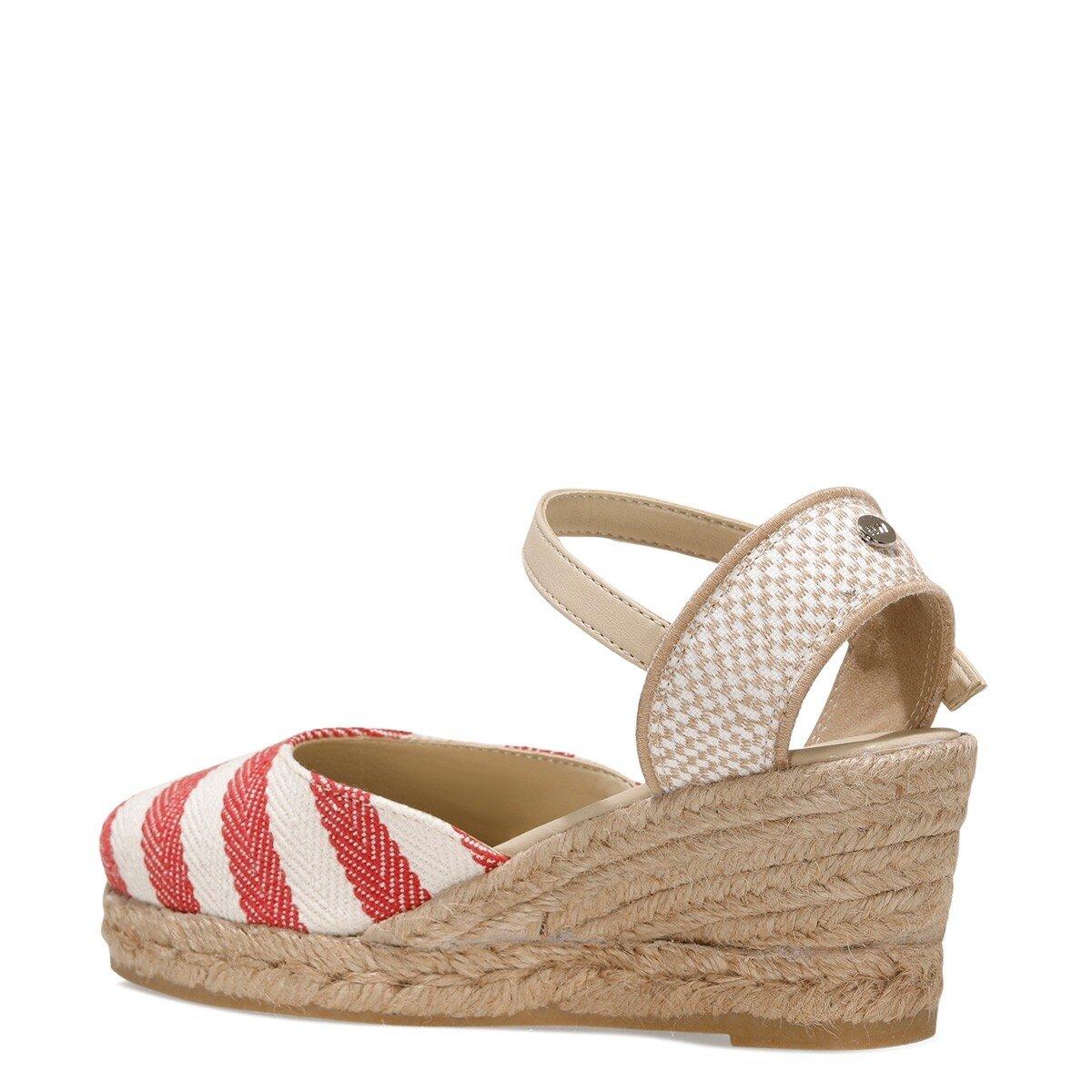 MARYWAY 1FX Kırmızı Kadın Espadril Ayakkabı