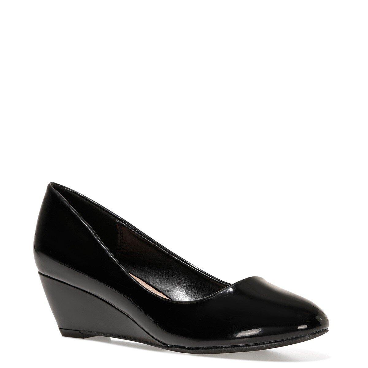 LICLA 1FX Siyah Kadın Dolgu Topuklu Ayakkabı