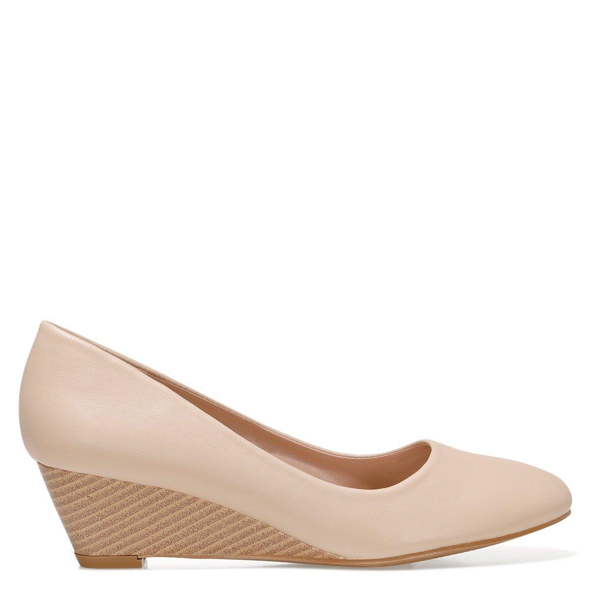 LICLA2 1FX NUDE Kadın Dolgu Topuk Ayakkabı