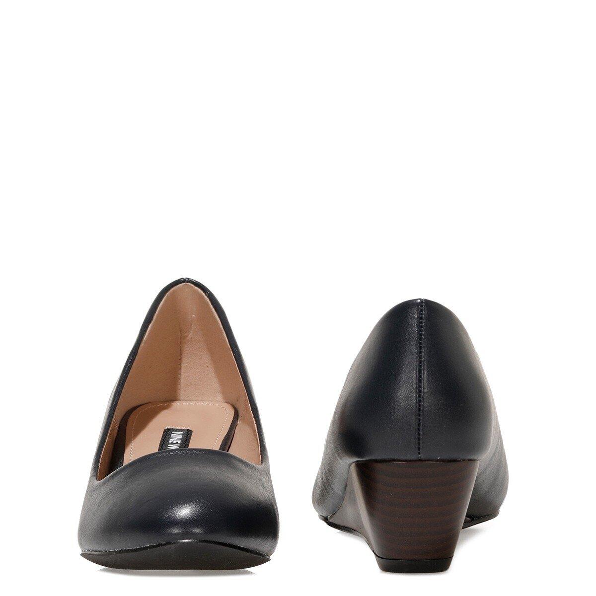 LICLA2 1FX Lacivert Kadın Dolgu Topuk Ayakkabı