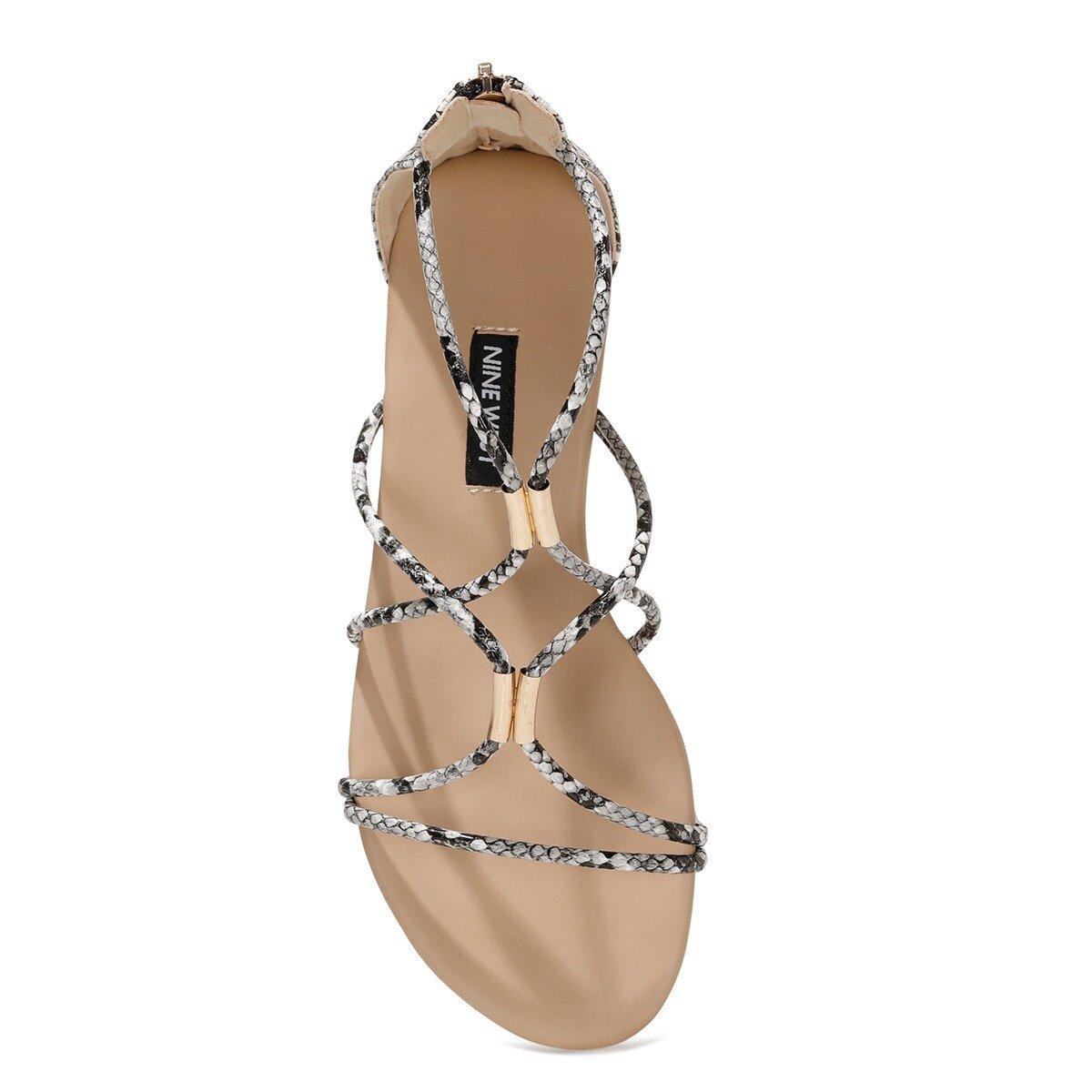 WOINIA 1FX Siyah Kadın Sandalet