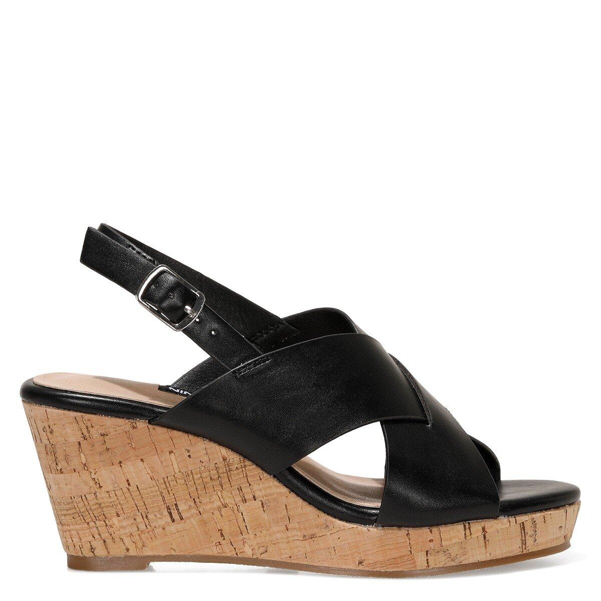 ZAURIA 1FX Siyah Kadın Sandalet