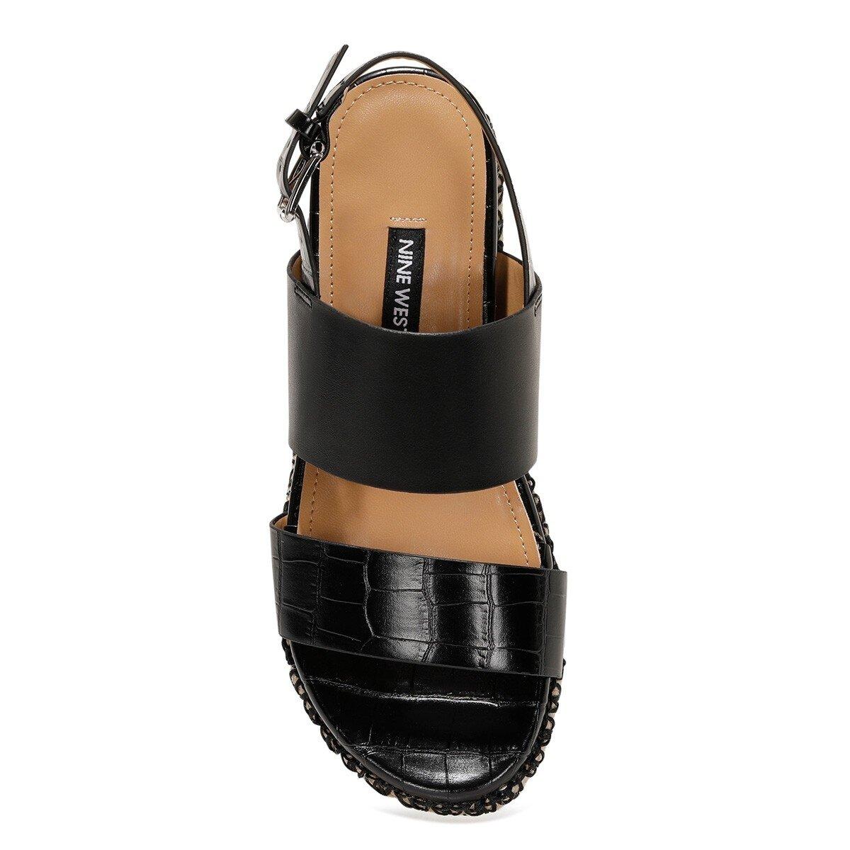 BROWNI 1FX Siyah Kadın Kalın Taban Sandalet