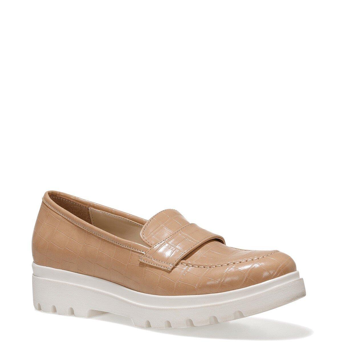 PIPER2 1FX Bej Kadın Loafer Ayakkabı