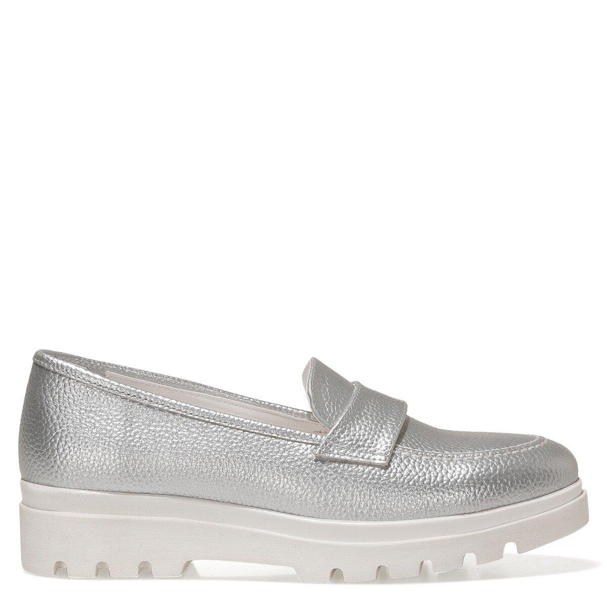 PIPER 1FX Gümüş Kadın Loafer Ayakkabı