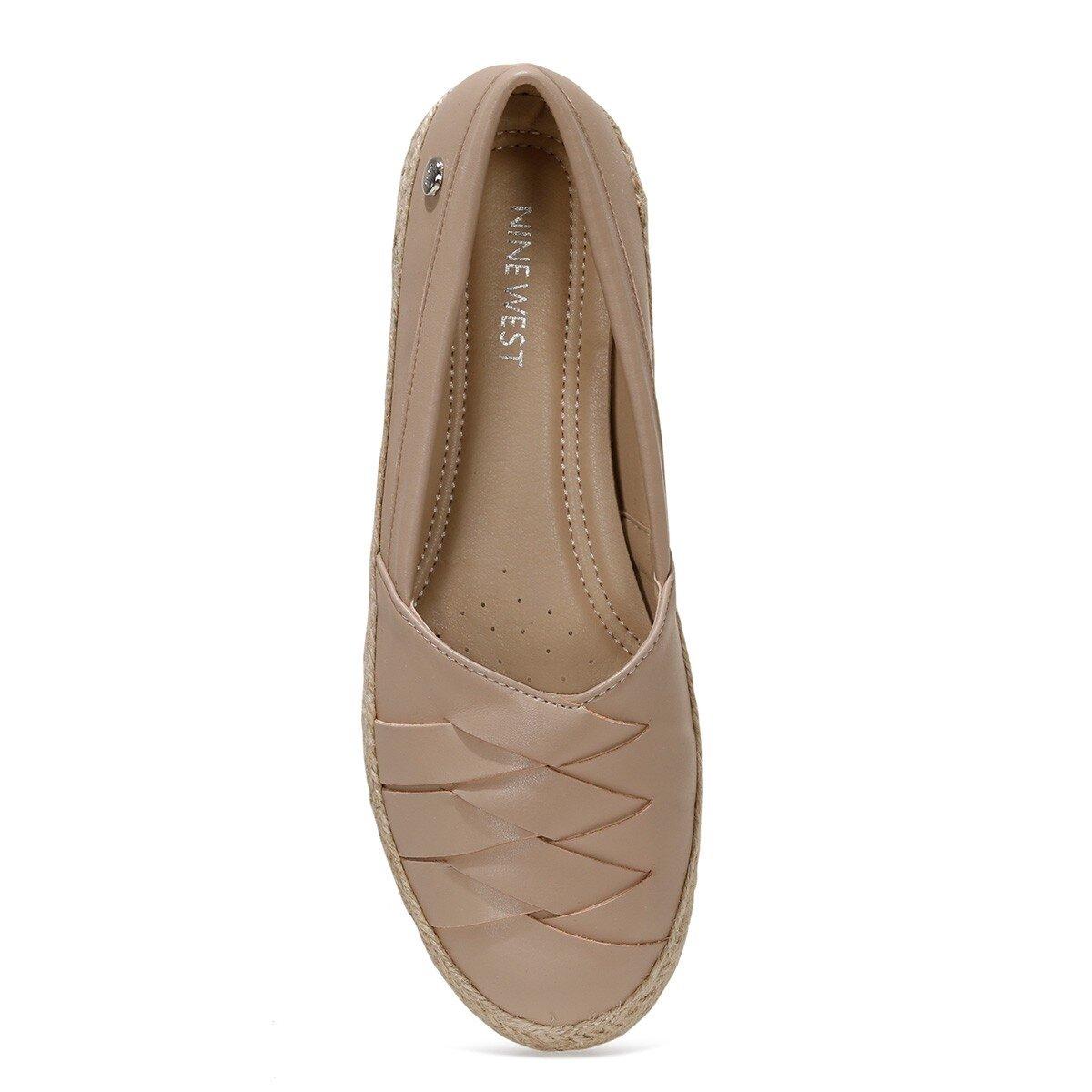 ABALINIEL 1FX Bej Kadın Slip On Ayakkabı