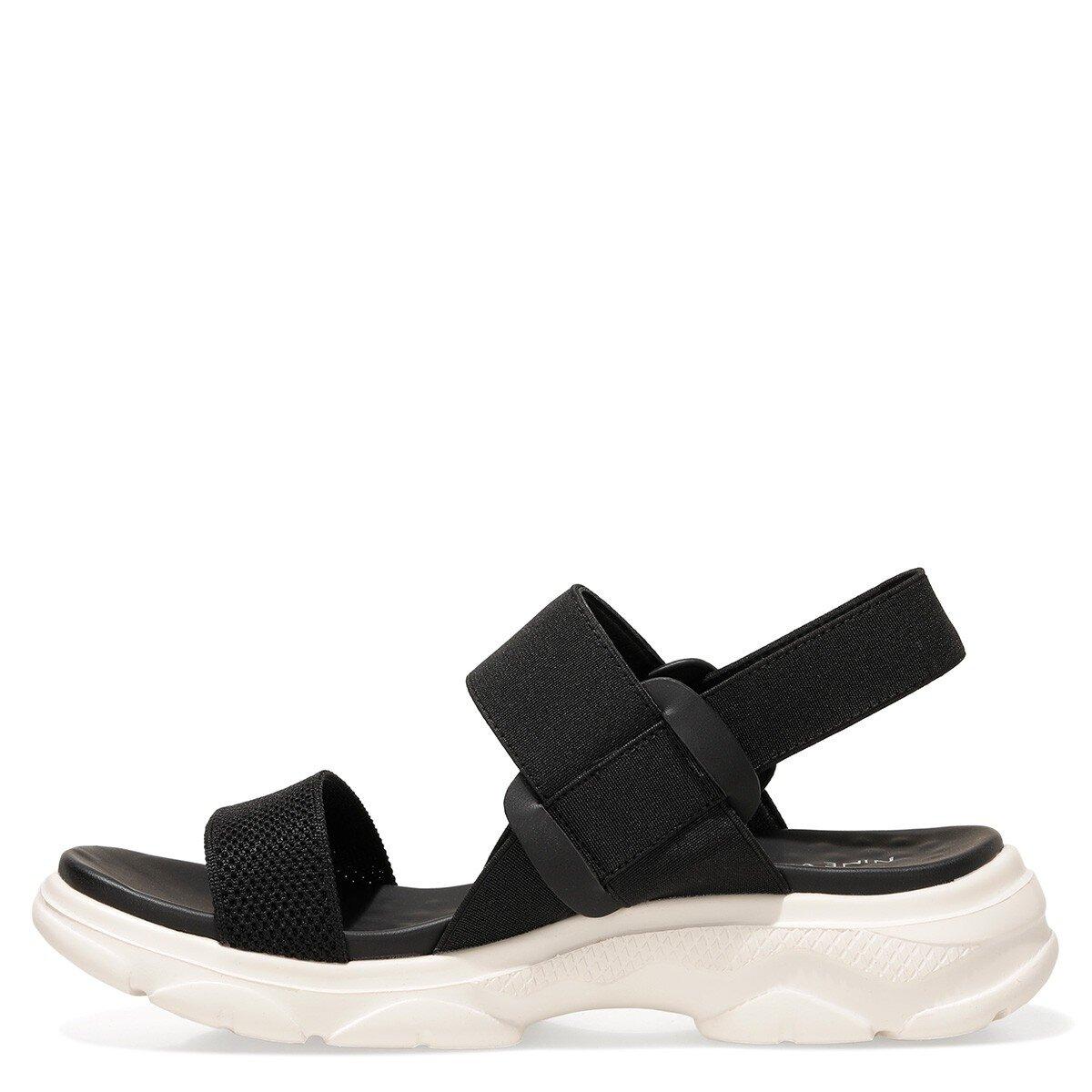 ABAUVIA 1FX Siyah Kadın Sandalet