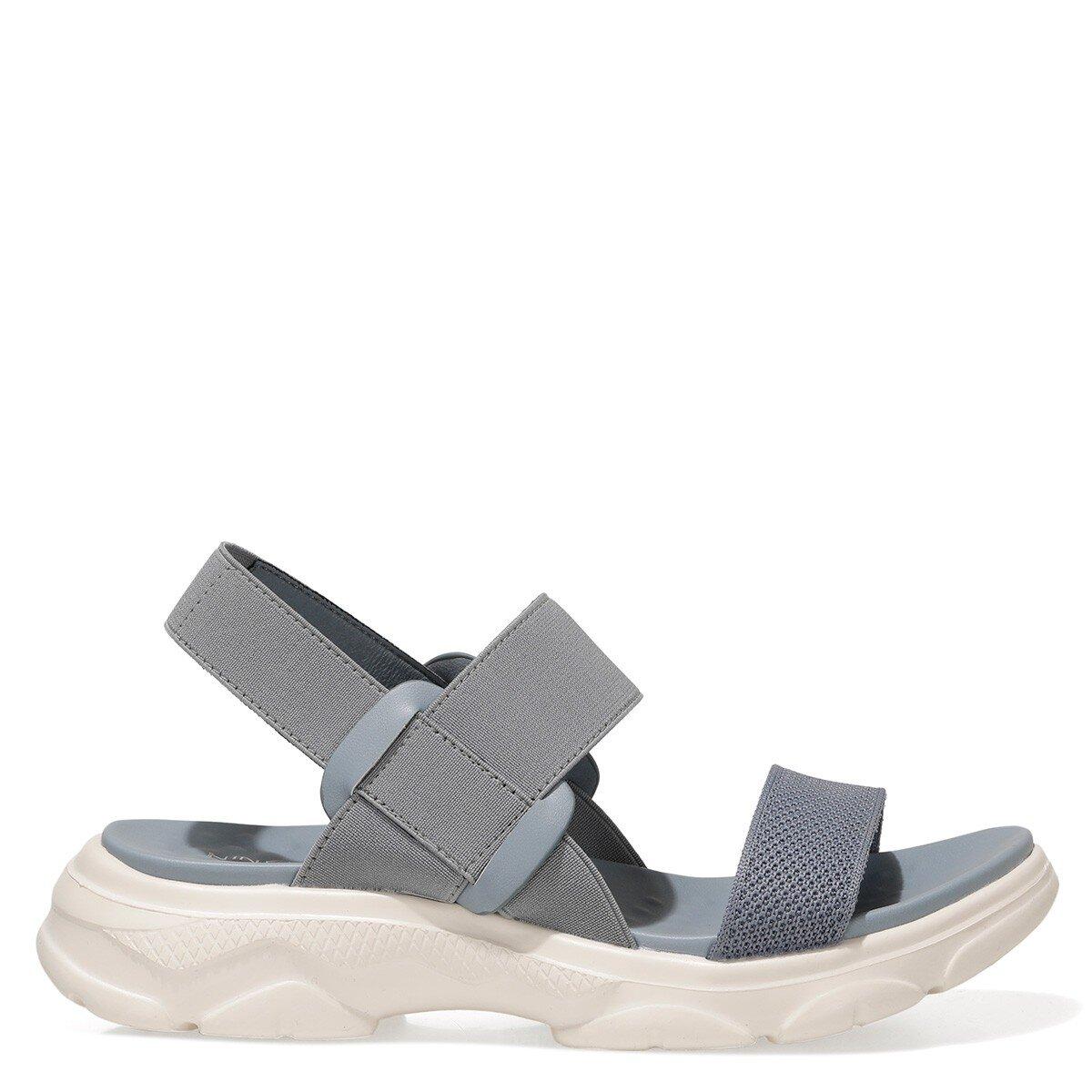 ABAUVIA 1FX Mavi Kadın Düz Sandalet