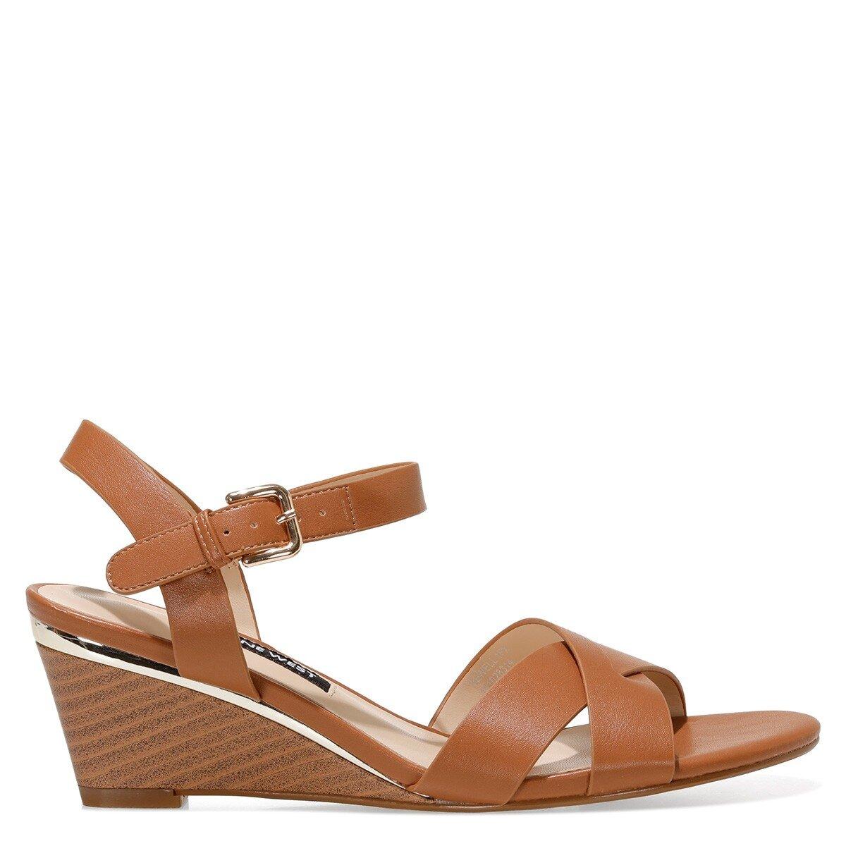 HEWELL 1FX Taba Kadın Dolgu Topuklu Sandalet
