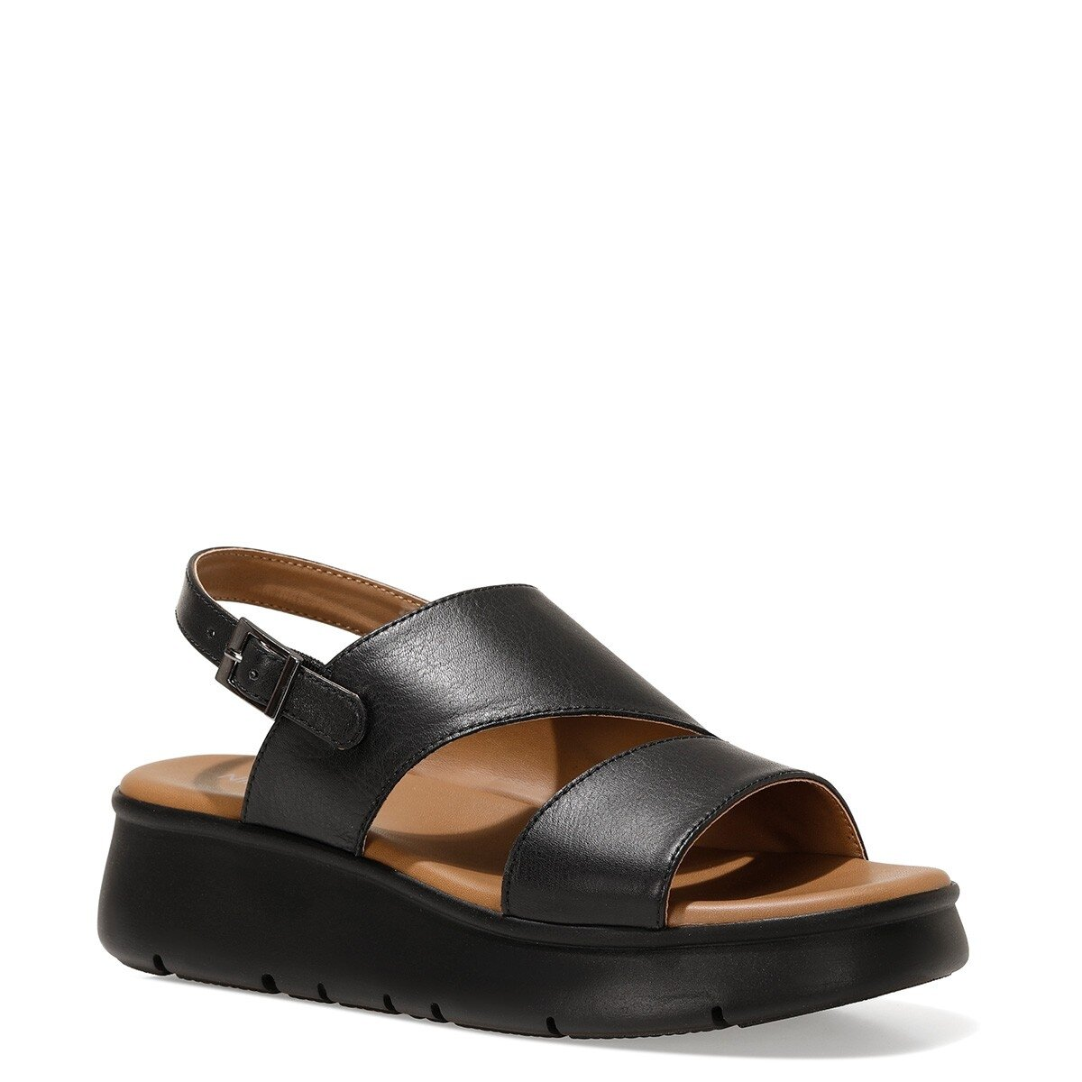 GUMA 1FX Siyah Kadın Ayakkabı>Sandalet>Topuksuz Sandalet