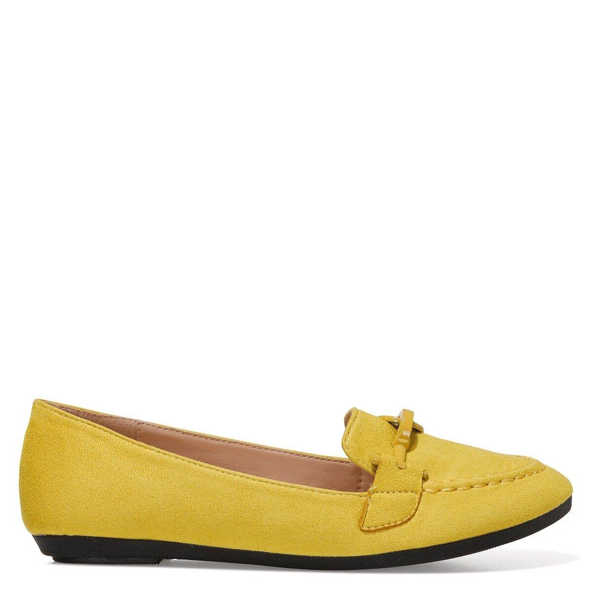 MAED 1FX Sarı Kadın Loafer Ayakkabı