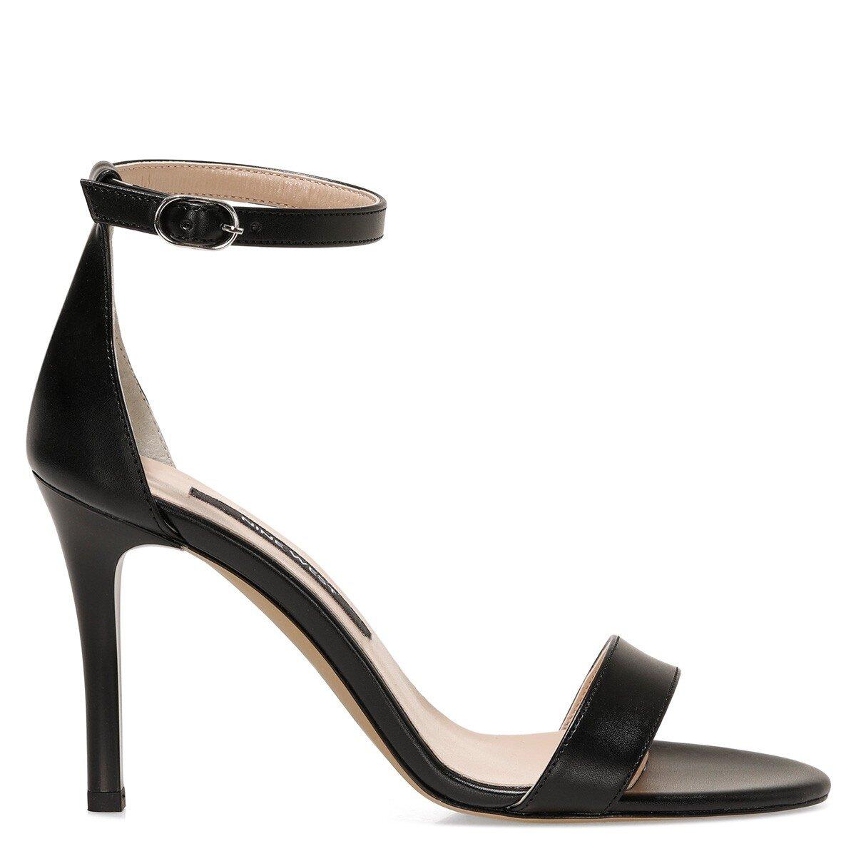 MANNE 1FX Siyah Kadın Sandalet