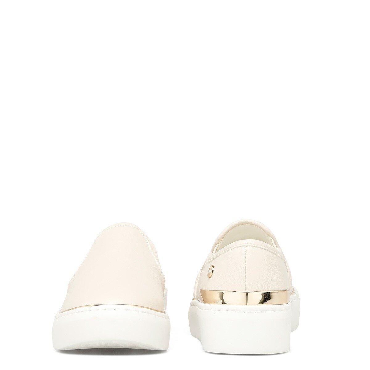 PIOMBO 1FX Krem Kadın Slip On Ayakkabı