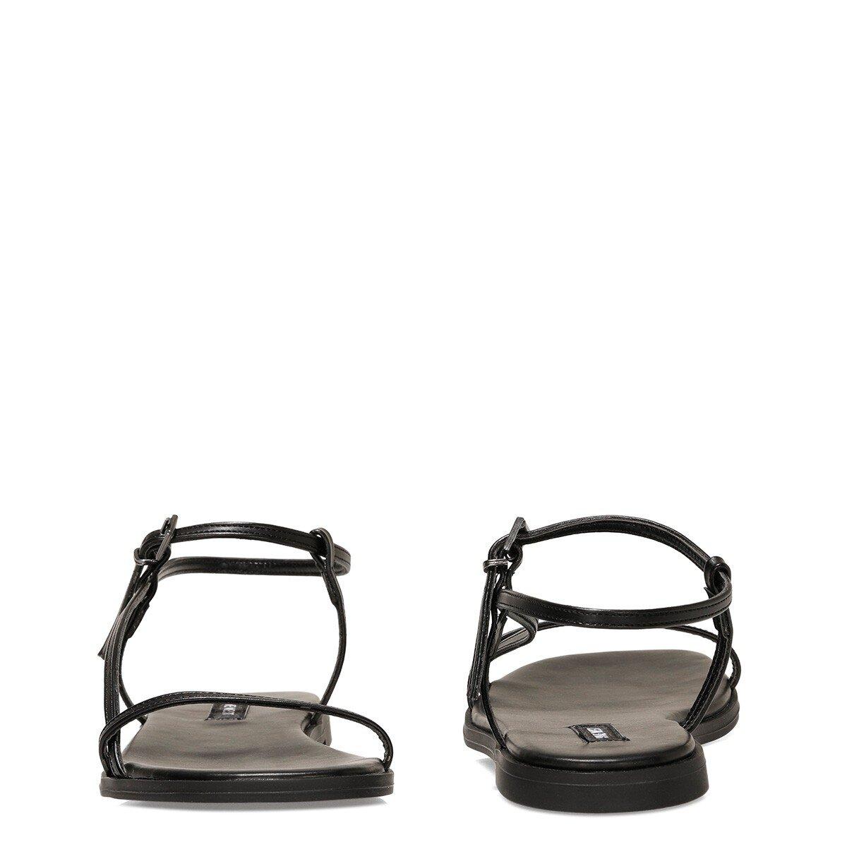 MELSA2 1FX Siyah Kadın Düz Sandalet