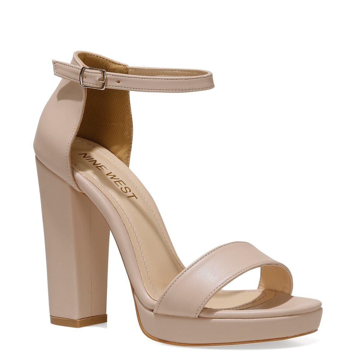 SILEMDA 1FX Pudra Kadın Topuklu Ayakkabı