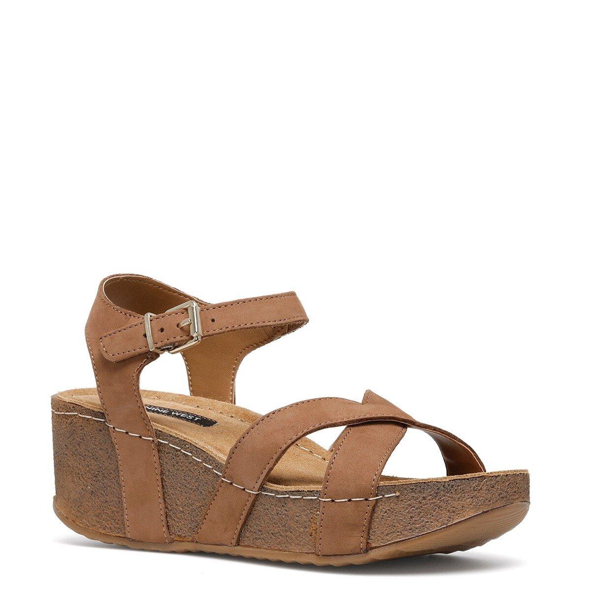 GOYARD 1FX Taba Kadın Dolgu Topuk Sandalet