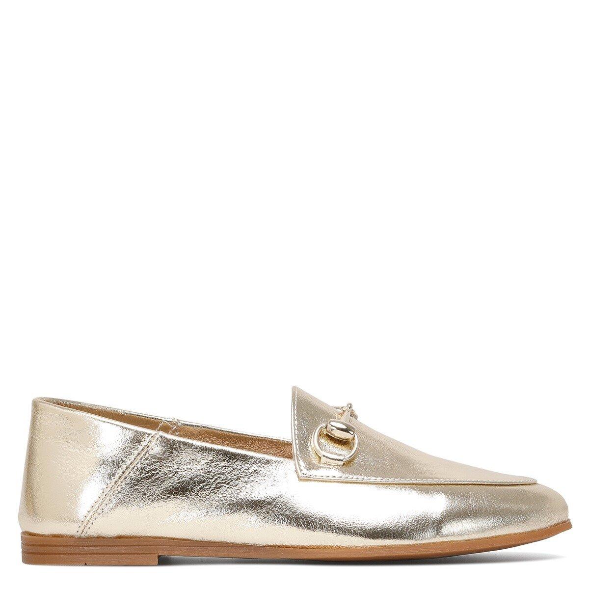 LENFER 1FX Altın Kadın Loafer