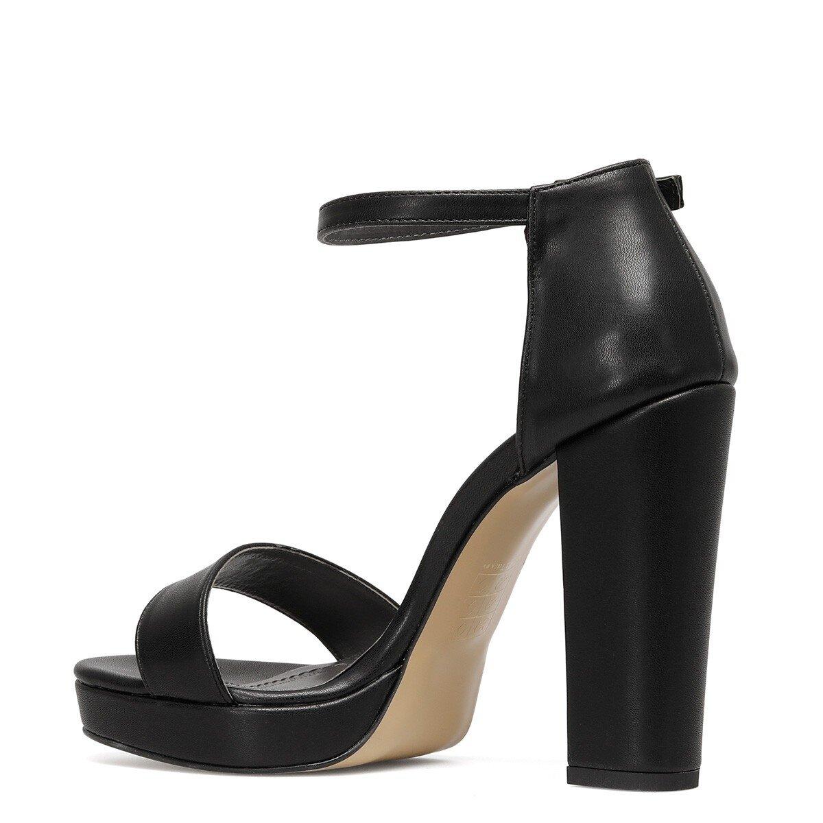 SILEMDA 1FX Siyah Kadın Topuklu Ayakkabı