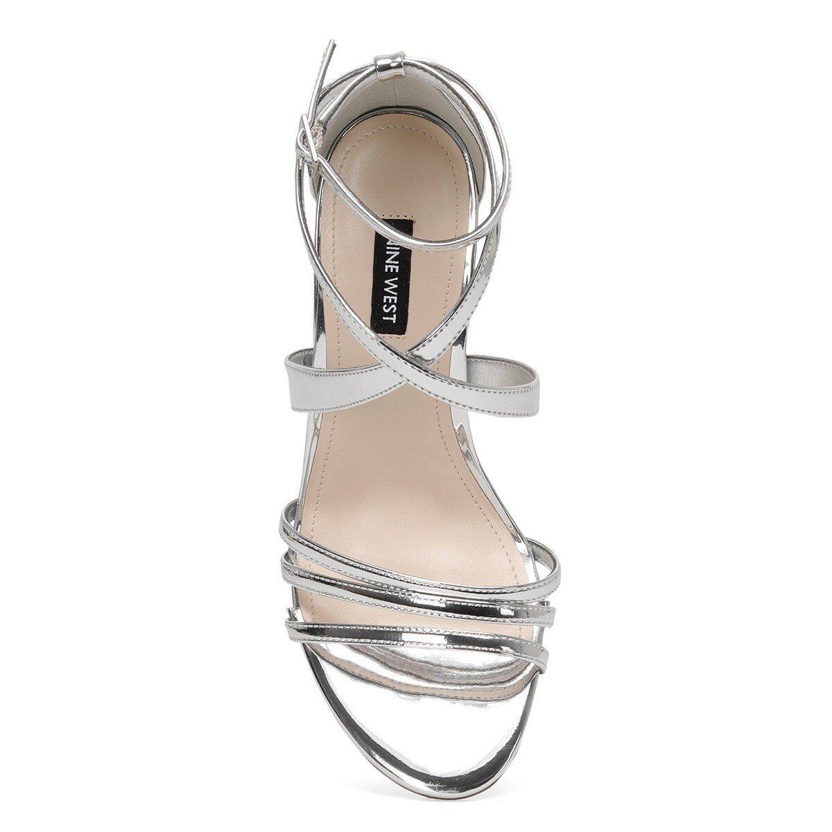 ILOV3 Gümüş Kadın Topuklu Sandalet
