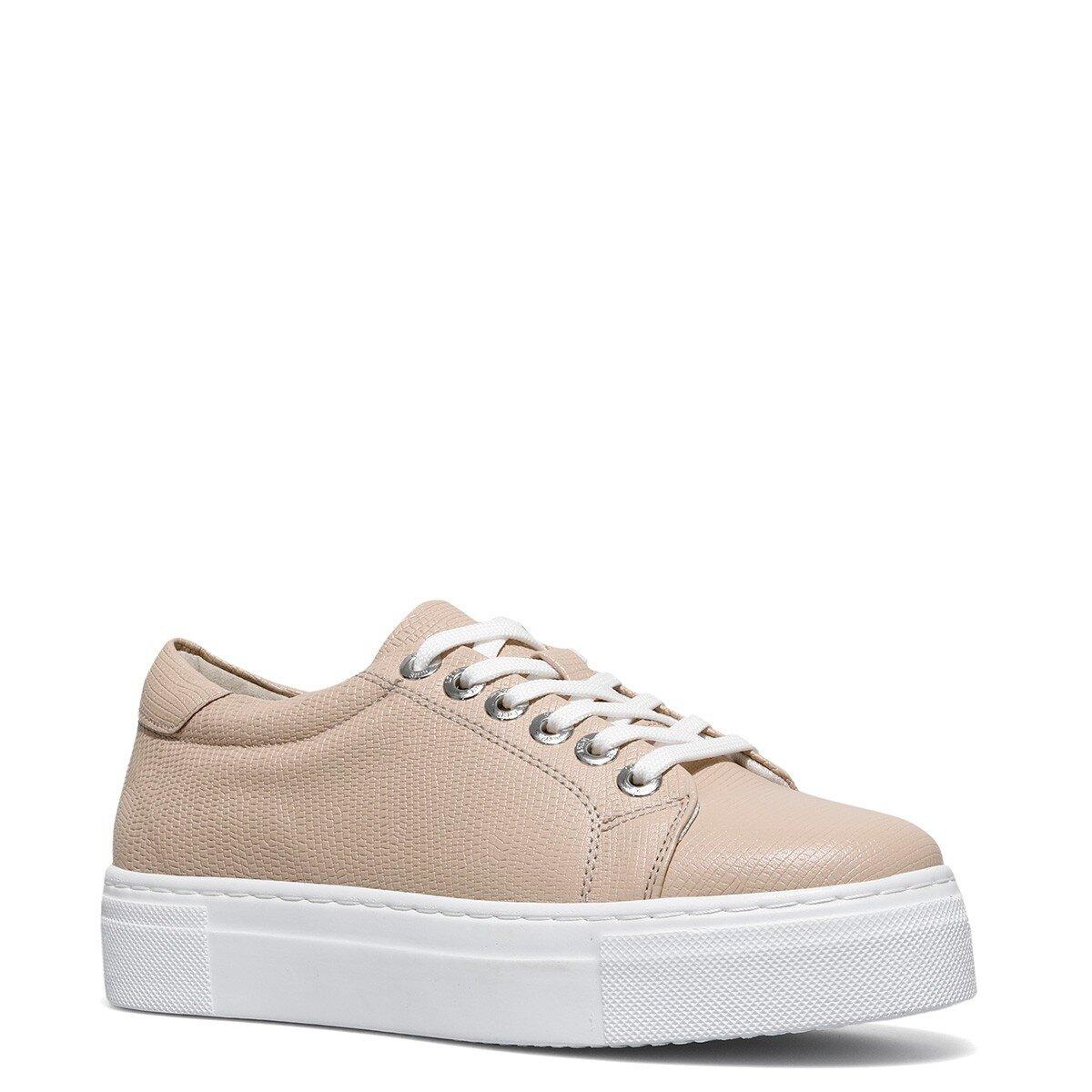 YUMARE 1FX Pudra Kadın Havuz Taban Sneaker